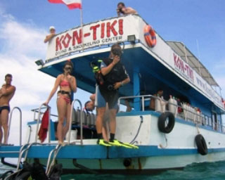 Kontiki Krabi's diving daytrip boat