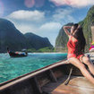 a longtail boat trip to visit Maya Bay