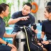 Classroom education time for the PADI Scuba Diver Course in Thailand