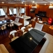A saloon interior for liveaboard in Phuket