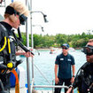 Equipment familiarisation is important in the Phuket PADI Rescue Diver course.