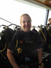 Ally Hiatt during her PADI diving course in Phuket