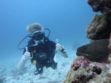 Ryan J. Litchfield during his PADI diving course in Phuket