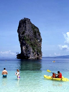 Sea kayaking at Koh Poda