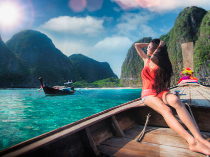 Click here for tourist information about Koh Phi Phi Islands, famed for 'The Beach'