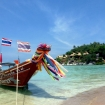 Longtail boat on a Koh Tao beach