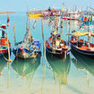 Fishing boats dot the island's waters
