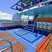 The dive deck of the Deep Andaman Queen liveaboard
