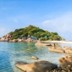 The famous landmark of Koh Nang Yuan