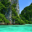 Snorkelling in Maya Bay, Phi Phi Islands
